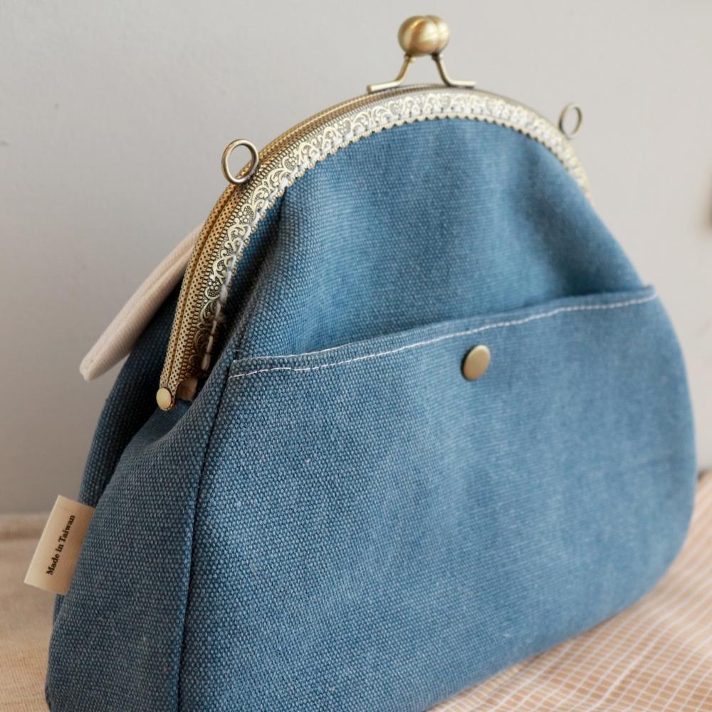   大富士山ふじさん   3way 口金包 手提包 側背包