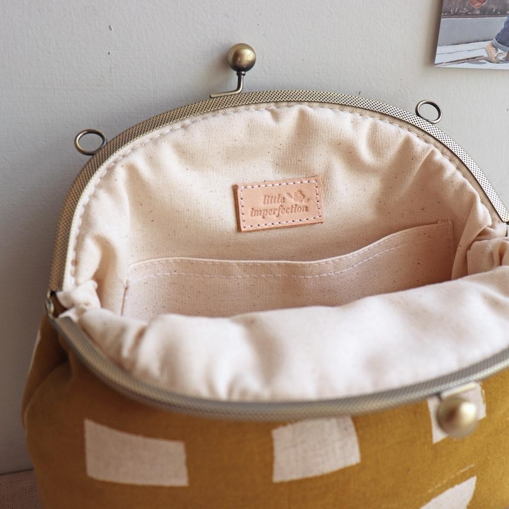 蜂蜜鬆餅 3way 口金包 隨身包 (附長鍊+短鍊)